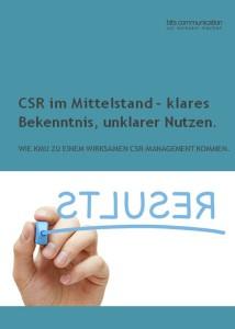 CSR im Mittelstand – klares Bekenntnis, unklarer Nutzen.