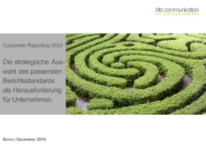 Corporate Reporting 2022 - Webinar zur CSR Berichterstattung